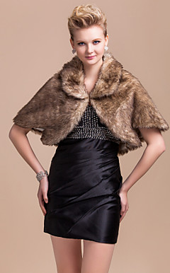 Elegant 3/4-Length Sleeves Long-Haired Fox Fur Faux Fur Special Occasion Jacket / Wrap (More Colors)
