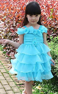 Sweet Off-the-shoulder Tulle Wedding/Evening Flower Girl Dress