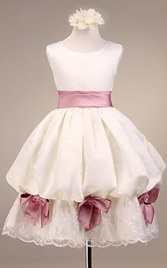 Satin Flower Girl Dress With Sash