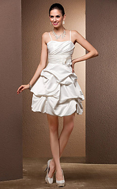 Ball Gown Sweetheart satijn Kort / Mini Wedding Dress