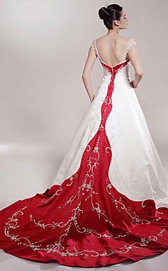 الجملة الجملة [XmasSale] Lily-  Madelyn- فستان زفاف- الساتان- الساتان
