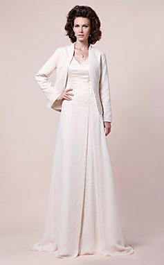 الجملة الجملة سطر الخامس الرقبة تمشيط / فرشاة قطار الأم الشيفون من ثوب العروس مع التفاف