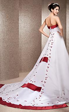 الجملة الجملة Abigail-  Faith- فستان زفاف- التفتا- الساتان