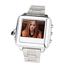 venta al por mayor 1.5inch mp4 8gb reproductor de vídeo espía reloj de la cámara videocámara de plata (hmm032a)