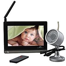 venta al por mayor 7 pulgadas de monitor de bebé (una cámara de visión nocturna inalámbrico + mando a distancia)