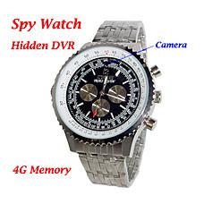 venta al por mayor de alta resolución 1280x960 diseño de moda dvr reloj con 4g de memoria de la cámara oculta (qw019)