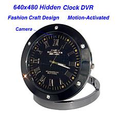 venta al por mayor 640 * 480 estilo de reloj de grabadora de vídeo digital, el movimiento-activado, oculta cámara en color de alfiler (qw113)