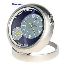 venta al por mayor HD 1280x960 dvr estilo de reloj con movimiento-activado cámara oculta color del agujero de alfiler (tra555)