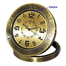 venta al por mayor reloj de metal con estilo, con sensor de la cámara + movimiento (HD)