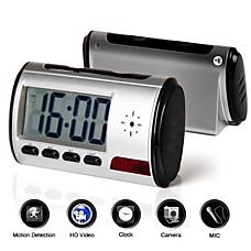 venta al por mayor reloj digital hablando con la cámara de seguridad oculta + sensor de movimiento