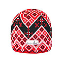 SAMII Jacquard Argyle Knit Beanie Skull Cap Hat-Red (0012) (Start From 20 Units)-Free Shipping