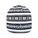 SAMII Jacquard Argyle Stripe Knit Beanie Cap Hat-Black (0015) (Start From 20 Units)-Free Shipping