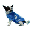 Blue Dog Sweater with Paw Prints (CW012) (Start From 20 Units)-Free Shipping