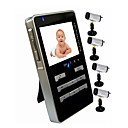 Wireless DVR Baby Monitor with 4X Rechargable Li-battery Cameras