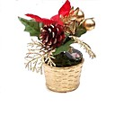 Artificial Potted Flower Christmas Ornament (SDBG133) (Start From 50 Units)-Free Shipping
