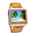 "4gb widescreen MP4 / MP3 player watch-1.5 ""TFT / funzione impermeabile / arancio s828-4"