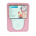 Pink Leather Case for iPod Nano 3rd (ip008)