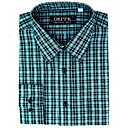 Top Grade Men's Long Sleeve Gingham Wrinkle Dress Shirt (QRJ007-2) -Free Shipping by Air Mail