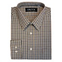 Men's Long Sleeve Solid Point Collar Gingham Dress Shirt (QRJ002-2) -Free Shipping by Air Mail