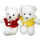 1 PC Plush Bear, White Bear In Red/Yellow Coat (MR022) (Start From 5 Units)-Free Shipping