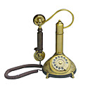 klassieke houten en koperen bellen telefoon, 22 x 20 x 27 (fgdh012) (vanaf 3 stuks) gratis verzending