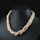 "Pink AA Freshwater Pearl Twist-style Necklace 16"" Length (Start From 3 Units) -Free Shipping"