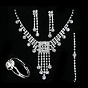 Magnificent Wedding Jewelry 4 piece Set (TYPJ019) (Start From 10 Units) Free Shipping