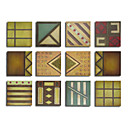 Handmade Oil Painting Geometric Fun - 12PC Canvas Set (SZH409)