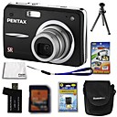 Pentax Optio A36 (A40) 12.4mp fotocamera digitale + scheda SD da 2 GB + batteria extra + 6 bonus