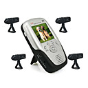 2.4Ghz 2.5 Inch Four Channel MP4 Baby Monitor with 4x Rechargable Li-battery Camera