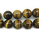 "16"" 20mm Round Natural Tigereye Stone Loose Strand Gemstone Beads (Start From 5 Units)"