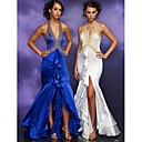 Column Halter Asymmetrica Taffeta Prom / Evening Dress (HSX308) (Start From 3 Units) Free Shipping