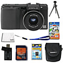 Ricoh Caplio GX100 10.3MP Digital Camera + 4GB SD Card + Extra Battery + 6 Bonus
