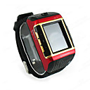 W08 Quad Band Watch Style Cell Phone Black - red - gold SZR091