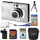 Canon IXUS 80 / Powershot SD1100 IS 8.3MP Digital Camera + 2GB SD Card + Extra Battery + 6 Bonus