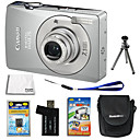 Canon PowerShot SD750/IXUS 75 Silver 7.1MP Digital Camera + Extra Battery + 6Bonus (SZW448)