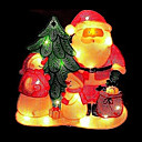 Double Faced Mesh Silhouette Santa Light (SDQ307)