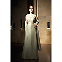 A-line V-neck Floor-length Satiny Prom / Evening Dress (HSX772) (Start From 3 Units) Free Shipping