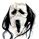 Scary Latex Halloween Mask with Hair For Adult (SZWS020)