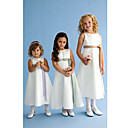 Fairy A-line Tea-length Satin Flower Girl Dress (HSX643) (Start From 3 Units) Free Shipping