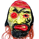 Scary Latex Devil Halloween Mask with Hair For Adult (SZWS029)