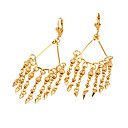Stylish  18K Gold Plated Drop Earring - Cubic Zirconia Earring 81012-44 (SZY969)