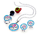 Colorful Enamel Jewelry Set - CZ Jewelry Set 80827-16 (SZY514)