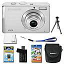 Samsung Digimax L201 10.3MP Digital Camera with 2.5-inch LCD + 4GB SD + Battery + 6 Bonus (SZW666)