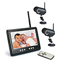 "2.4GHZ 7-Inch Baby Monitor with 2x 1/4"" Sharp CCD Night Vision Camera"