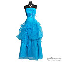 Ball Gown Strapless Floor-length Satin Organza Evening Dress / Prom Dress (HSX205)