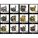 Lot of 12 Pcs Art Tattoo Machine Gun 10 Wrap Coils New Pro Tuned