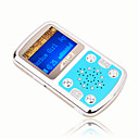 4gb mini mp3 players com alto-falante azul (szm183)