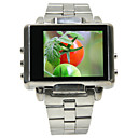 4GB 1.8-inch Watch MP3/MP4 DC DV Players Silver(SZM200)