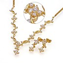 18K Gold Plated Noble CZ Jewelry Set-Cubic Zirconia Jewelry Set SYX-0361(SZY1702)